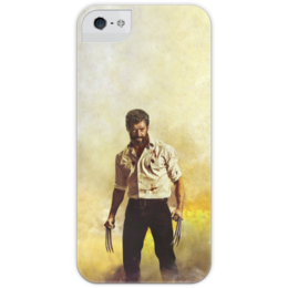 """Чехол для iPhone 5 с подставкой, с полной запечаткой """"Логан"""" - росомаха, марвел, marvel, люди икс, комиксы"""