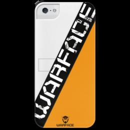 """Чехол для iPhone 5 с подставкой, с полной запечаткой """"Warface """" - game, warface, киберспорт, open cup"""