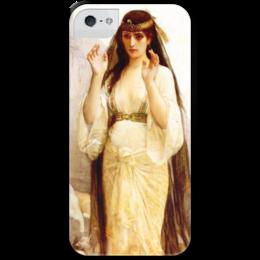 """Чехол для iPhone 5 с подставкой, с полной запечаткой """"Дочь Иеффая (картина Кабанеля)"""" - картина, кабанель"""