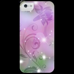 """Чехол для iPhone 5 с подставкой, с полной запечаткой """"Лилия"""" - цветок, лилия"""