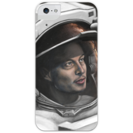 """Чехол для iPhone 5 с подставкой, с полной запечаткой """"SpaceX"""" - космос, вселенная, thespaceway, spacex, маск"""