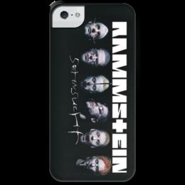 "Чехол для iPhone 5 с подставкой, с полной запечаткой ""Rammstein for iPhone 5 "" - metal, iphone, heavy metal, hard rock, rammstein, чехол для iphone, рамштайн"