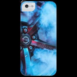 """Чехол для iPhone 5 с подставкой, с полной запечаткой """"NISMO"""" - nissan, nismo, skyline"""