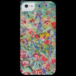 """Чехол для iPhone 5 с подставкой, с полной запечаткой """"Чувства"""" - red, summer, красота, flowers, маки, poppy, лето красиво"""