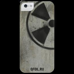 """Чехол для iPhone 5 с подставкой, с полной запечаткой """"Логотип-трафарет"""" - сталкер, тёмная душа"""