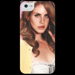 """Чехол для iPhone 5 с подставкой, с полной запечаткой """"Лана Дель Рей"""" - лана, лана дель рей"""
