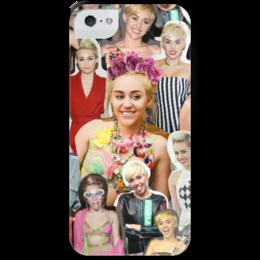 """Чехол для iPhone 5 с подставкой, с полной запечаткой """"Майли сайрус"""" - майли сайрус, miley cyrus, мули"""