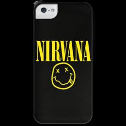 """Чехол для iPhone 5 с подставкой, с полной запечаткой """"Нирвана"""" - grunge, гранж, nirvana"""