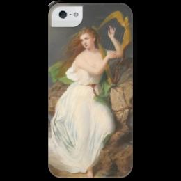 """Чехол для iPhone 5 с подставкой, с полной запечаткой """"Арфа Эрин (картина Томаса Бьюкенена Рида)"""" - ирландия, картина, рид"""
