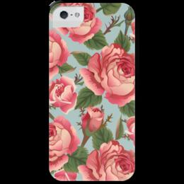 """Чехол для iPhone 5 с подставкой, с полной запечаткой """"Розалия"""" - цветы, розы"""