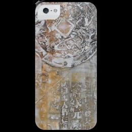 """Чехол для iPhone 5 с подставкой, с полной запечаткой """"Знаки"""" - арт, картина, фактурный, 14фев"""