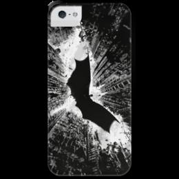 """Чехол для iPhone 5 с подставкой, с полной запечаткой """"Темный рыцарь"""" - batman, бэтмен, the dark knight rises, темный рыцарь"""