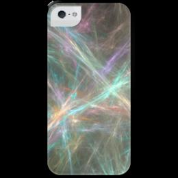 """Чехол для iPhone 5 с подставкой, с полной запечаткой """"Абстрактный дизайн"""" - графика, абстракция, линии, авангард, лучи"""