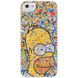 """Чехол для iPhone 5 с подставкой, с полной запечаткой """"Симпсоны"""" - гомер, симпсоны, гомер симпсон, the simpsons, gomer"""