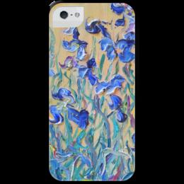 """Чехол для iPhone 5 с подставкой, с полной запечаткой """"Стая бабочек"""" - красиво, лето, summer, flowers, цветочки, butterflies"""