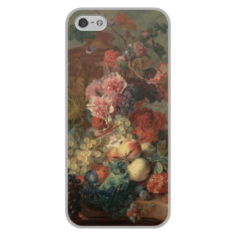 Чехол для iPhone 5/5S, объёмная печать Printio Цветы (ян ван хёйсум) фартук с полной запечаткой printio цветы ян ван хёйсум