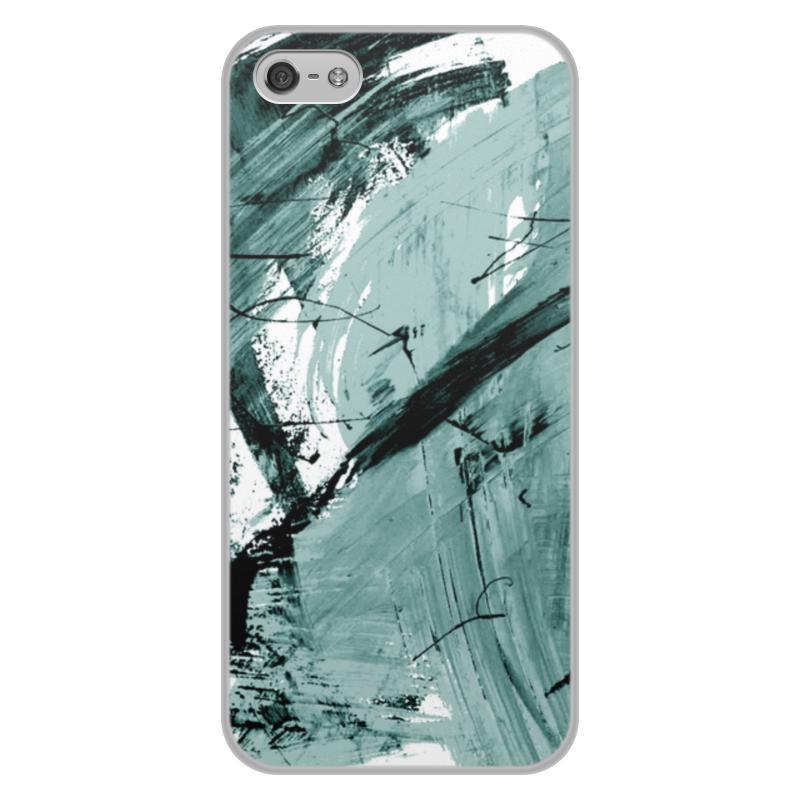 Чехол для iPhone 5/5S, объёмная печать Printio Волна чехол для iphone 8 объёмная печать printio буря красок