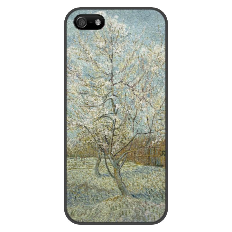 Чехол для iPhone 5/5S, объёмная печать Printio Персиковое дерево в цвету (ван гог) чехол для iphone 5 5s объёмная печать printio персиковое дерево в цвету ван гог