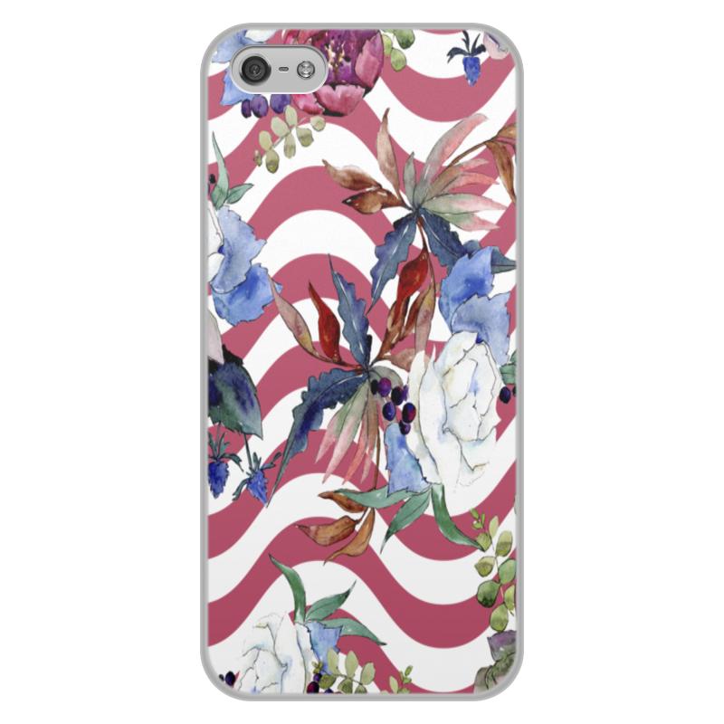 Printio Узор цветов чехол для iphone 5 5s объёмная печать printio дудл узор