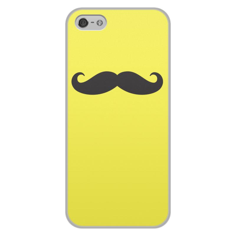 Чехол для iPhone 5/5S, объёмная печать Printio Усы.. цена и фото