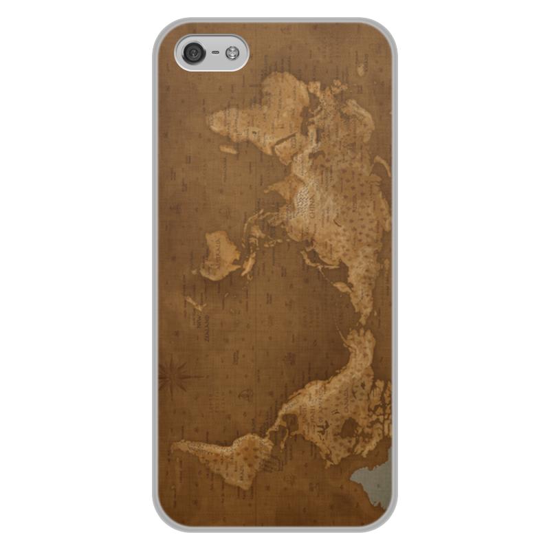 Фото - Чехол для iPhone 5/5S, объёмная печать Printio Карта мира чехол для iphone 6 глянцевый printio карта мародеров