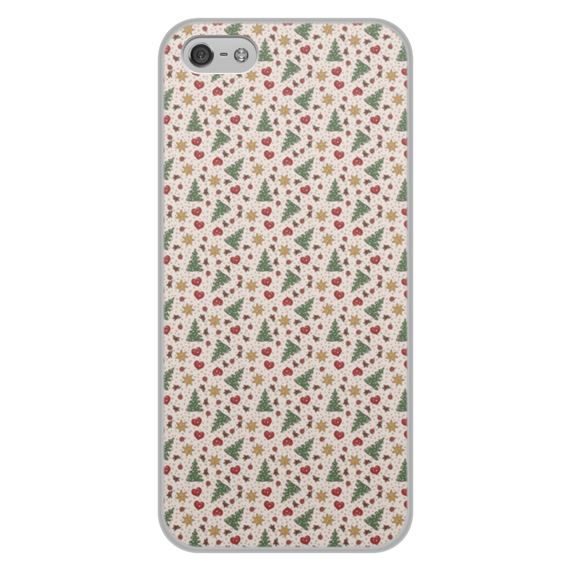 Чехол для iPhone 5/5S, объёмная печать Printio Праздник цена и фото