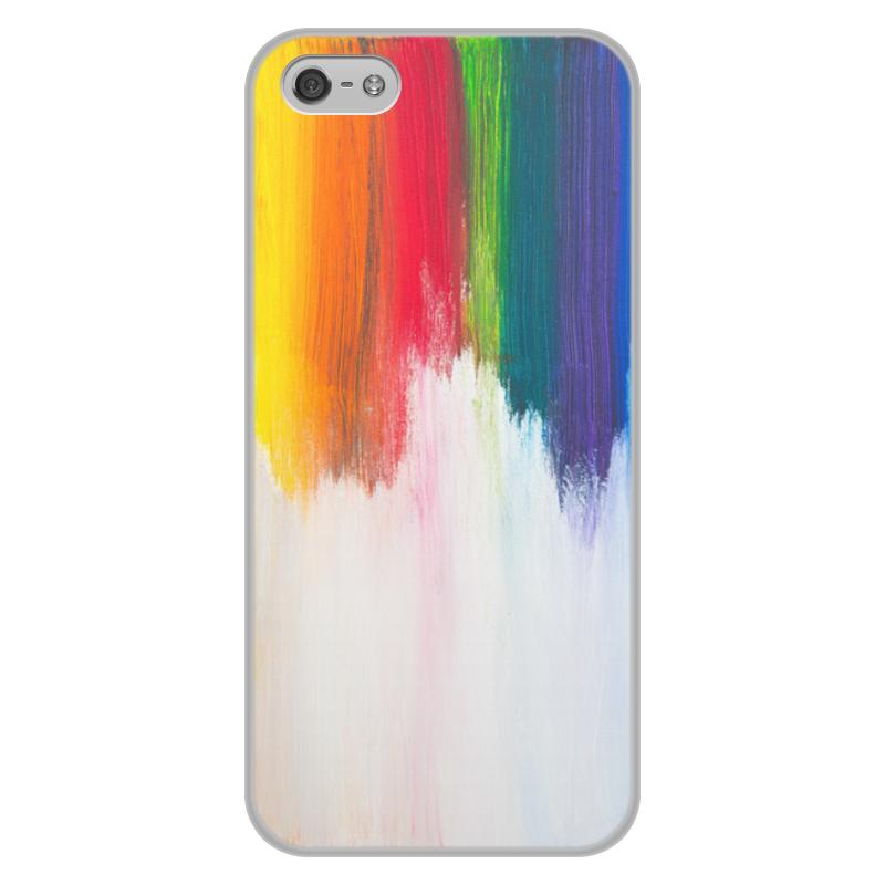 лучшая цена Чехол для iPhone 5/5S, объёмная печать Printio Rainbow