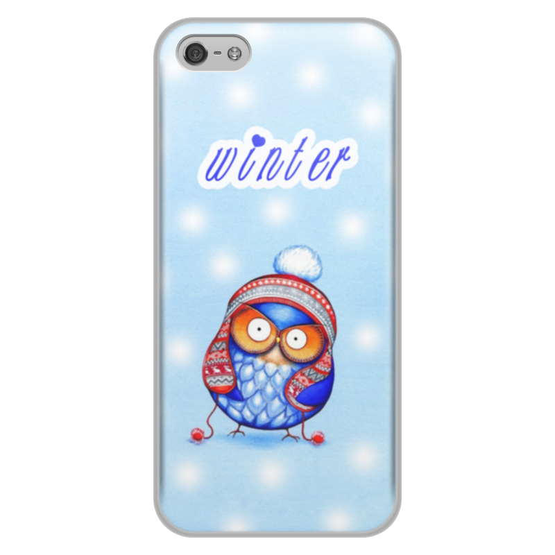 Чехол для iPhone 5/5S, объёмная печать Printio Зима и сова футболка print bar gunter the penguin