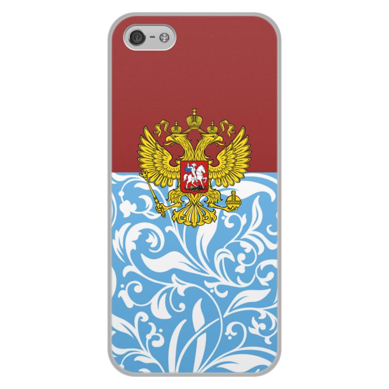 лучшая цена Чехол для iPhone 5/5S, объёмная печать Printio Цветы и герб