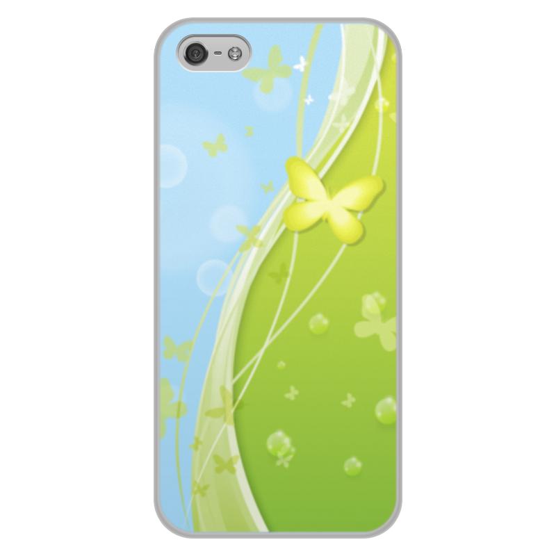 Чехол для iPhone 5/5S, объёмная печать Printio Летний мотив чехол для iphone 5 глянцевый с полной запечаткой printio девушка на фоне лунного озера