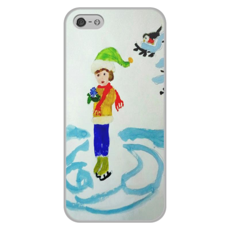 Чехол для iPhone 5/5S, объёмная печать Printio Зимние забавы зимние забавы раскраска