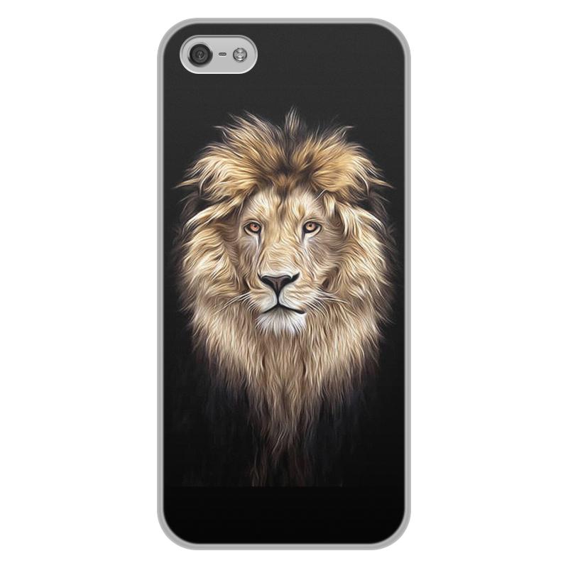 лучшая цена Чехол для iPhone 5/5S, объёмная печать Printio Лев. живая природа
