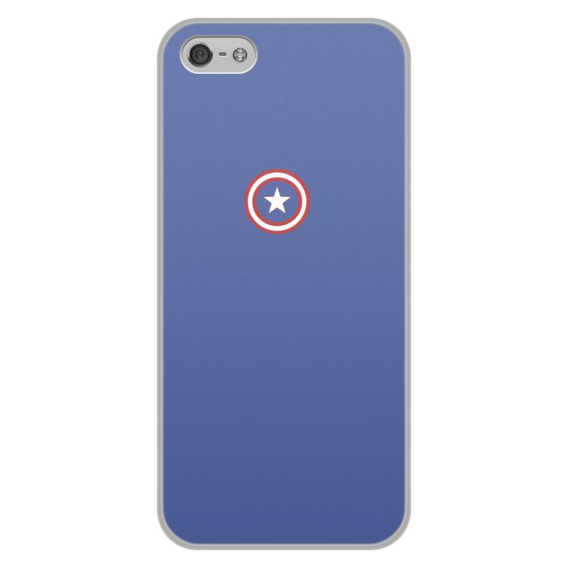 Чехол для iPhone 5/5S, объёмная печать Printio Капитан америка iphone 5s в тольятти в кредит