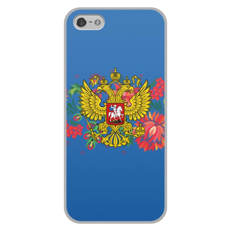 лучшая цена Чехол для iPhone 5/5S, объёмная печать Printio Герб рф