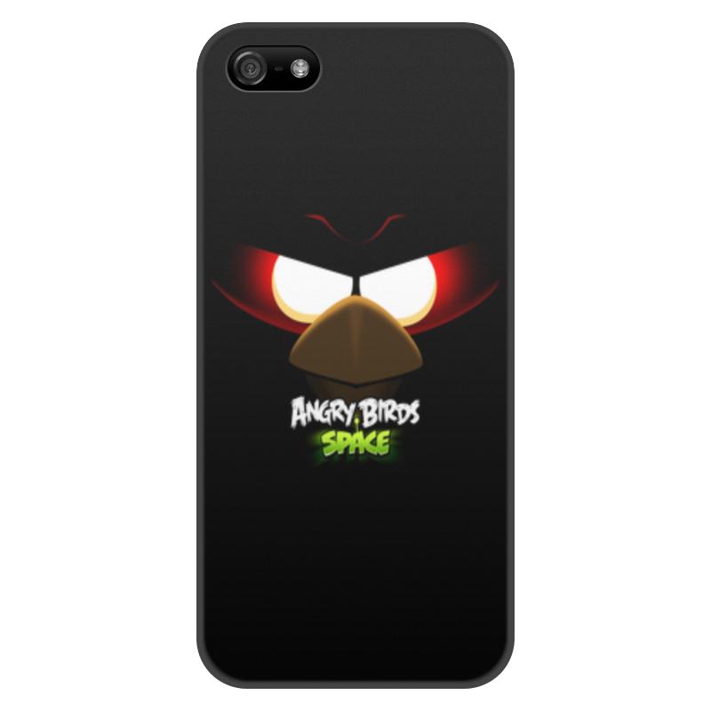 Чехол для iPhone 5/5S, объёмная печать Printio Space (angry birds) чехол для iphone 4 4s angry birds 1 401