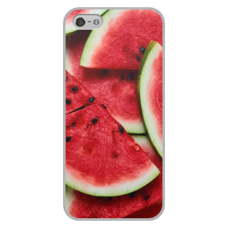 Чехол для iPhone 5/5S, объёмная печать Printio Арбуз цена и фото