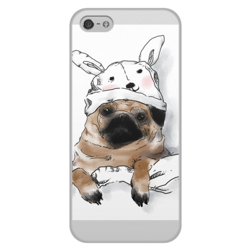 лучшая цена Чехол для iPhone 5/5S, объёмная печать Printio Мопс в шапочке