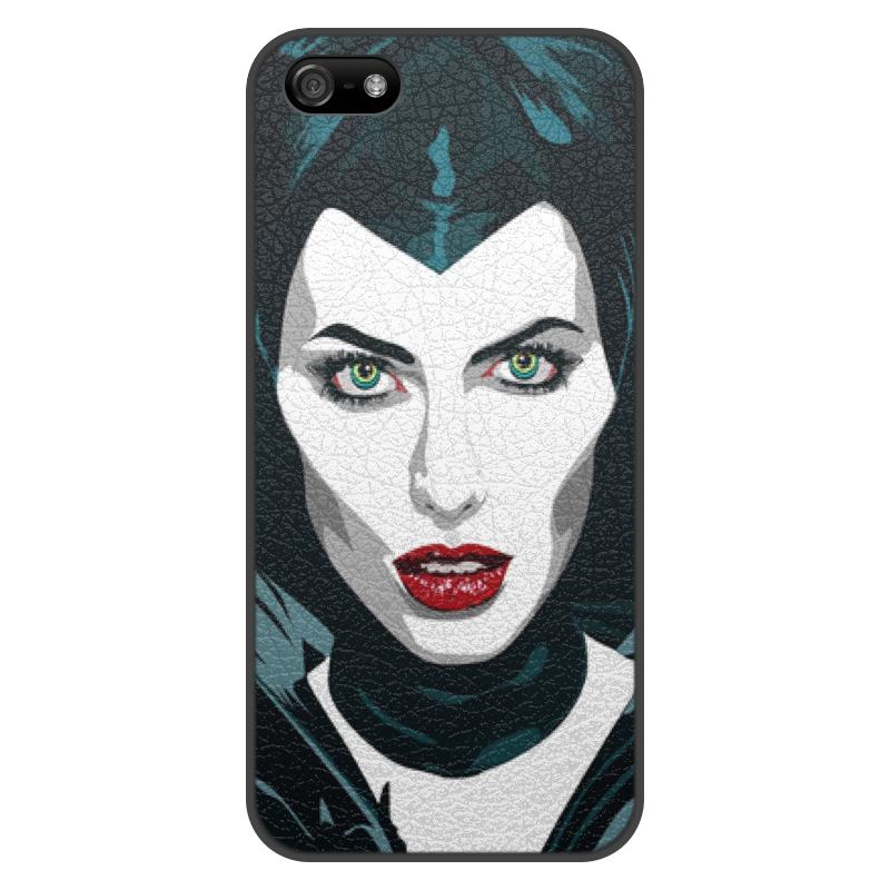 цена на Чехол для iPhone 5/5S, объёмная печать Printio Maleficent (анджелина джоли)
