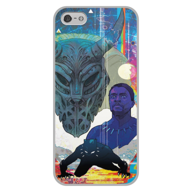 лучшая цена Чехол для iPhone 5/5S, объёмная печать Printio Черная пантера