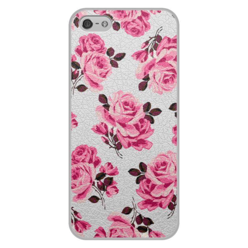 Чехол для iPhone 5/5S, объёмная печать Printio Красные розы чехол для iphone 5 5s объёмная печать printio шаман