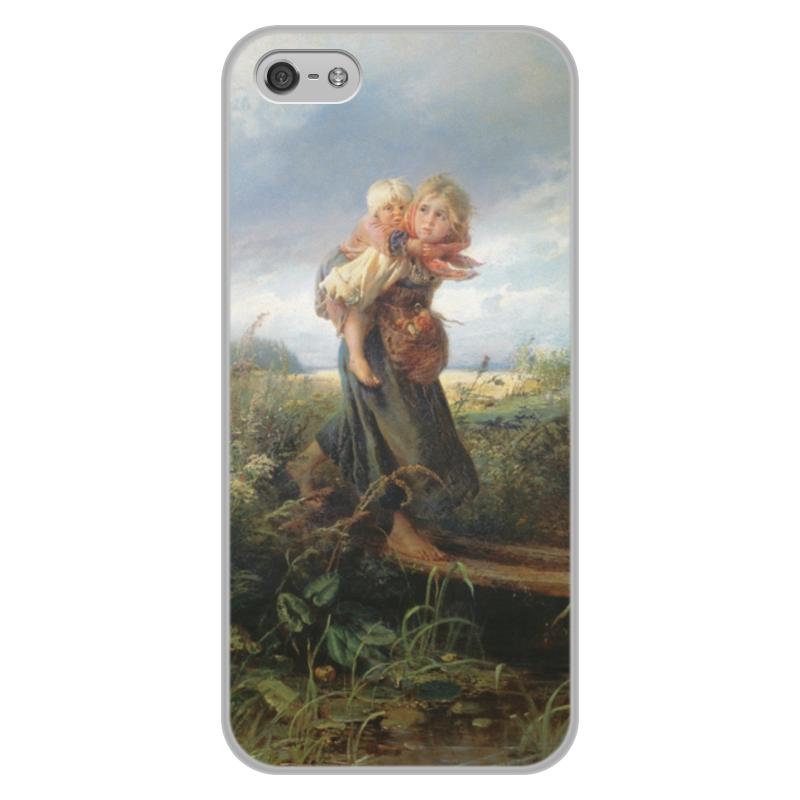 Чехол для iPhone 5/5S, объёмная печать Printio Дети, бегущие от грозы (константин маковский) торт printio набережная в крыму константин коровин