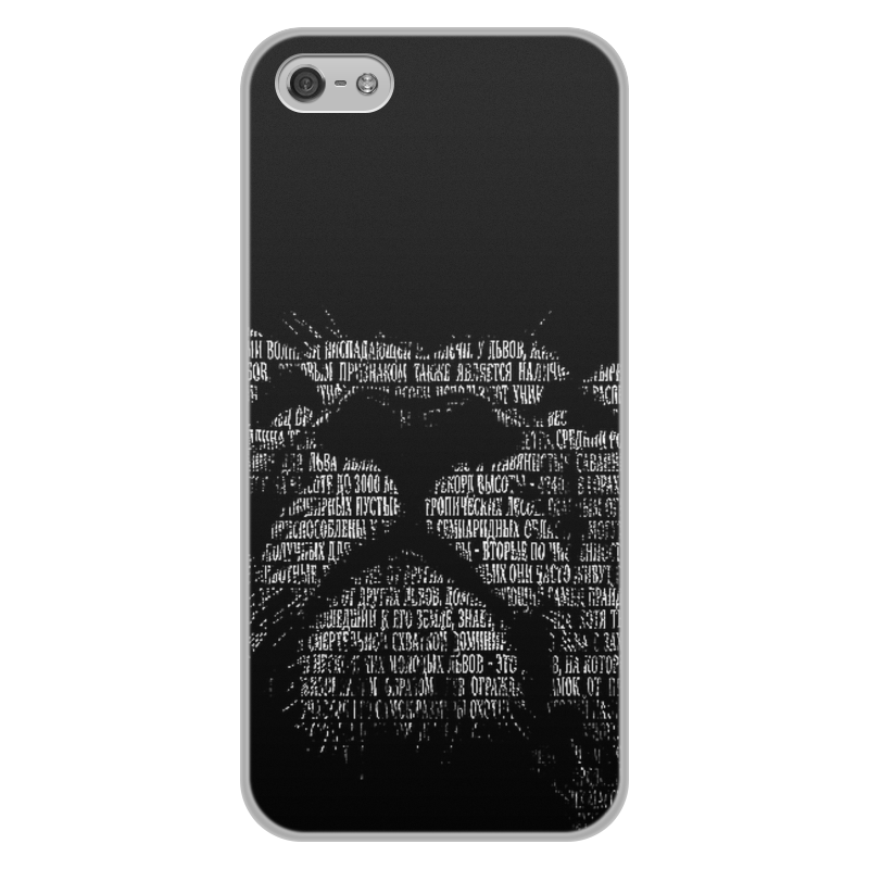 Чехол для iPhone 5/5S, объёмная печать Printio Чёрно-белый лев чехол для iphone 5 глянцевый с полной запечаткой printio чёрно белая клетка