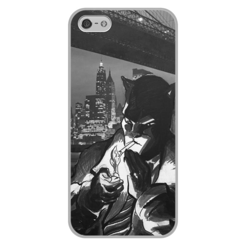 Чехол для iPhone 5/5S, объёмная печать Printio Blacksad цена и фото