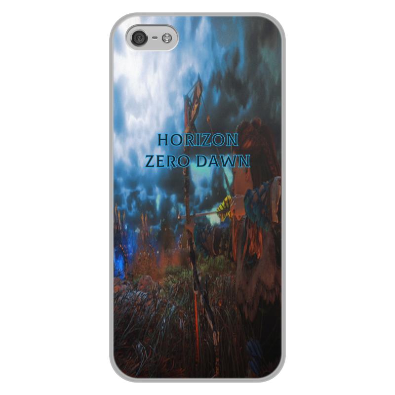Чехол для iPhone 5/5S, объёмная печать Printio Horizon zero dawn цена и фото