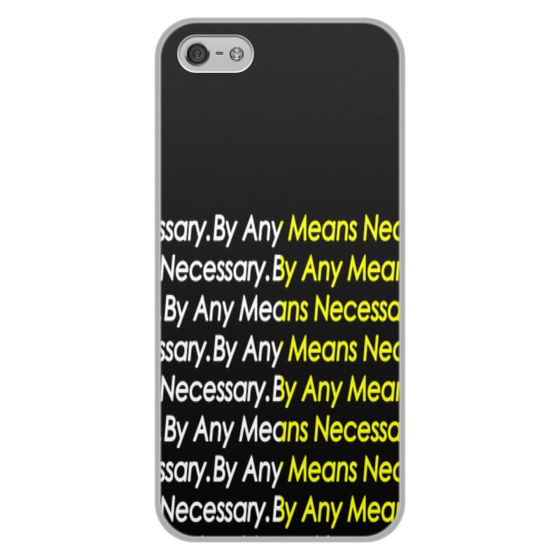 Чехол для iPhone 5/5S, объёмная печать Printio By any means necessary цена и фото