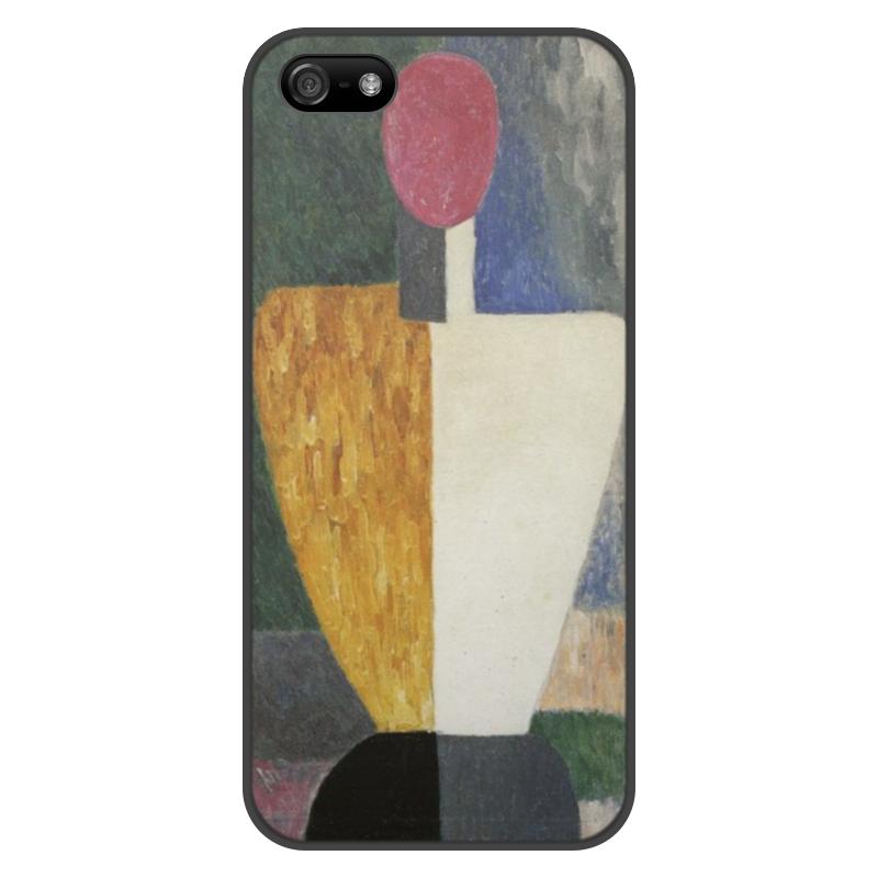 Чехол для iPhone 5/5S, объёмная печать Printio Торс (фигура с розовым лицом) (малевич) цена