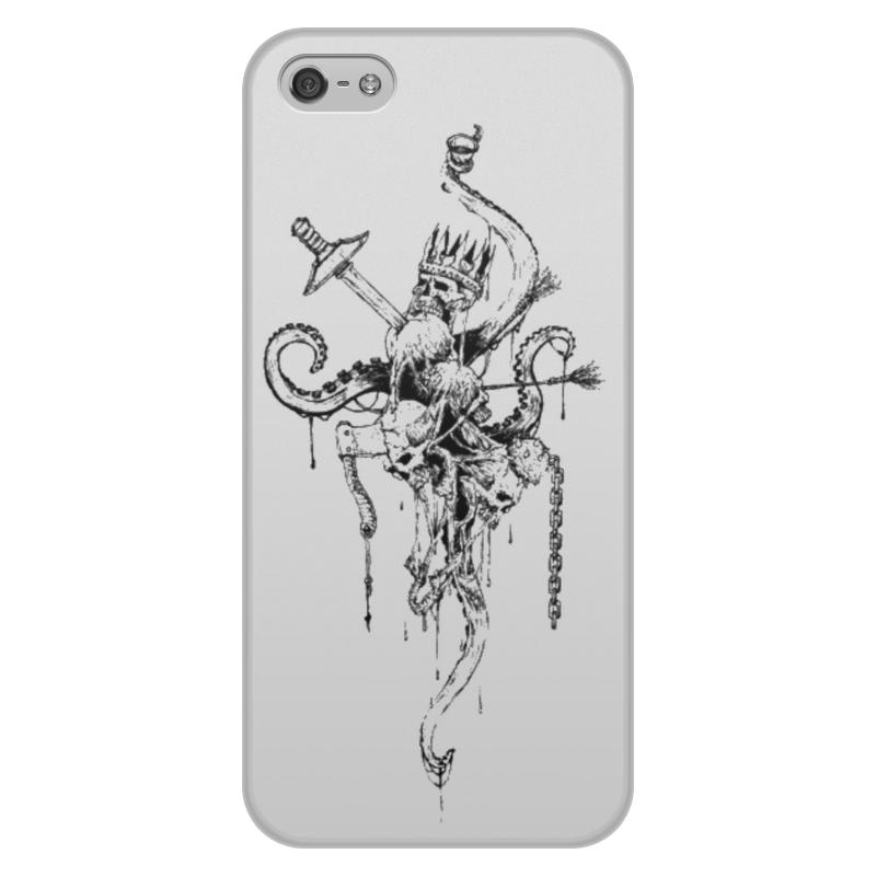 Чехол для iPhone 5/5S, объёмная печать Printio Черепа с щупальцами цена и фото