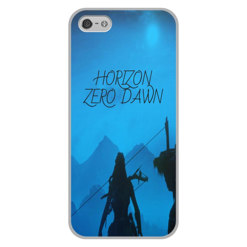 Чехол для iPhone 5/5S, объёмная печать Printio Horizon zero dawn цена