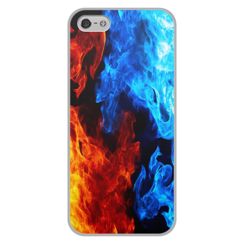 лучшая цена Чехол для iPhone 5/5S, объёмная печать Printio Огонь