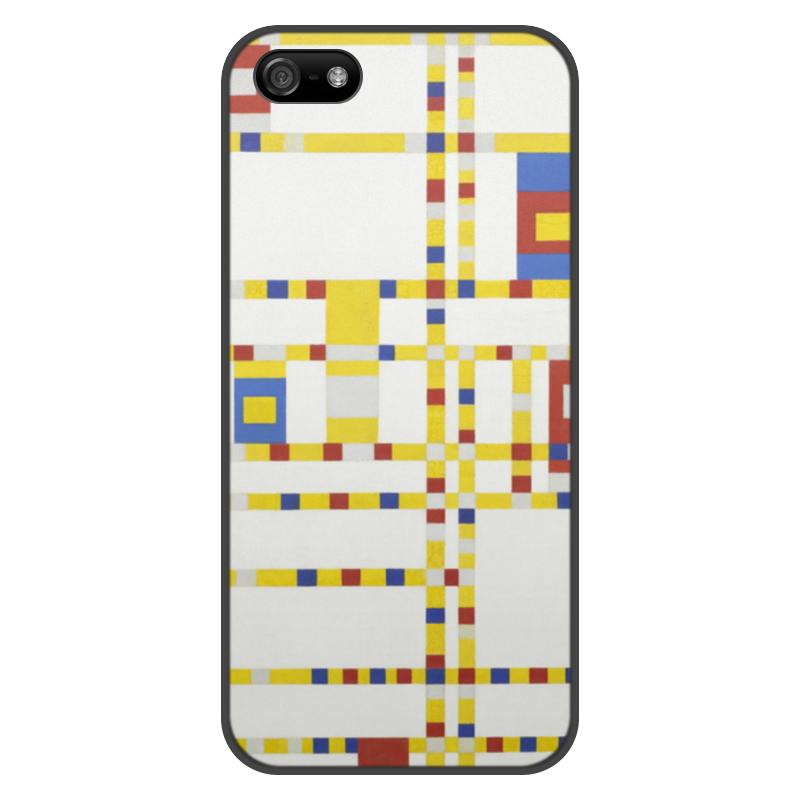 Чехол для iPhone 5/5S, объёмная печать Printio Бродвей буги-вуги (питер мондриан) чехол для samsung galaxy s5 printio бродвей буги вуги питер мондриан